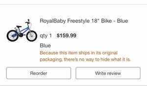 """RoyalBaby 18"""" new bike for Sale in Vallejo, CA"""