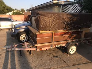 Folding trailer converted to camping trailer for Sale in Los Angeles, CA