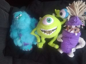 Monsters INK MOVIE stuffed animals figures for Sale in Spokane, WA