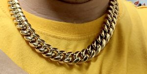"""14k gold jewelry bonded in stainless steel 16mm chain 20"""" for Sale in Pembroke Pines, FL"""