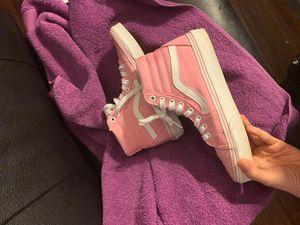 Pink vans , U.S men -6.0 women -7.5 only worn 3times for Sale in Rogers, AR