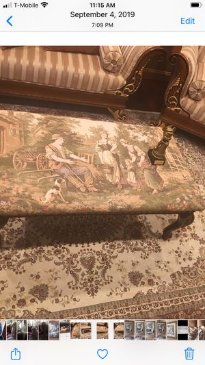 Very beautiful gorgeous costume made ottoman for Sale in Troy, MI