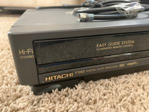 Hitachi F362 VCR Hi Fi Digital Auto Tracking for Sale in Sarasota, FL