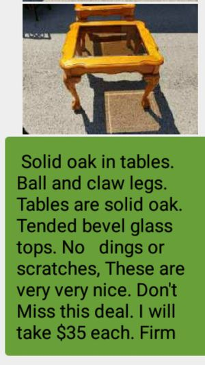 Solid oak end tables for Sale in Columbia, TN
