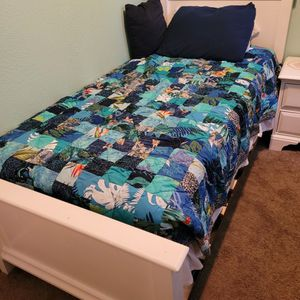 Twin Bed, Frame And Side Table for Sale in Everett, WA