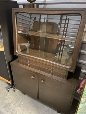 Mid century vintage antique china liquor cabinet great condition for Sale in Sugar Land, TX