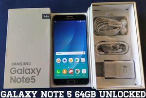 Galaxy Note 5 (64GB) GSM-UNLOCKED + Verizon (Like-New) for Sale in Falls Church, VA