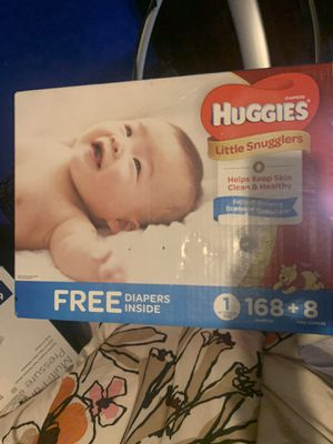 Huggies size 1 176 count for Sale in Jacksonville, FL