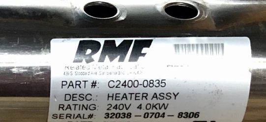 Refurbished Hot Tub Heater Assembly, 240v 4.0KW, Model C2400-0835 for Sale in Mt. Juliet,  TN