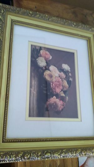 Home interior pictures gold frame with roses design for Sale in Rocky Mount, VA