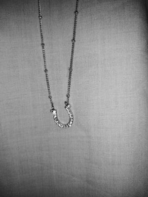 Fossil Brand Rhinestone Horseshoe silver tone necklace for Sale in Lawrenceville, GA