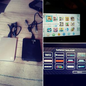 1 & 2tb external hard drives w games for Nintendo Wii & Wii U for Sale in Las Vegas, NV