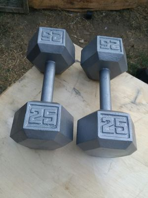 25Lb Hex Dumbbells. $35 Firm for Sale in Compton, CA