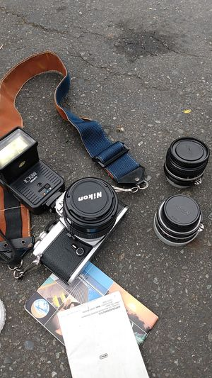 Nikon camera and three lenses for Sale in Seattle, WA