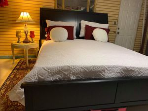 ASHLEY FURNITURE KING BED FRAME WITH FOAM MATTRESS INCLUDING for Sale in Pomona, CA