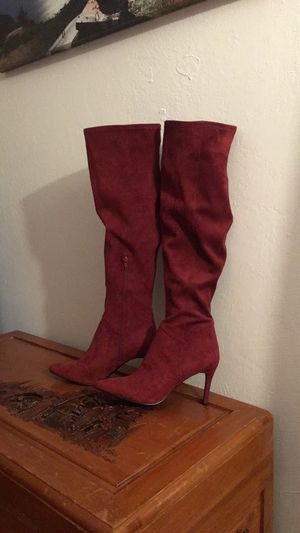 Burgundy Knee High Boots for Sale in Richmond, CA