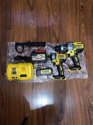 """Dewalt 20v Max XR Brushless 1/2"""" Hammer Drill (DCD996B) (1) Dewalt 20v Max XR Brushless 3 - Speed Impact Driver (DCF887B) (1) Flexvolt 20v/60v 6.0 Ba for Sale in The Bronx, NY"""