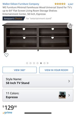Espresso t.v. Entertainment Center with Shelves for Sale in Largo, MD