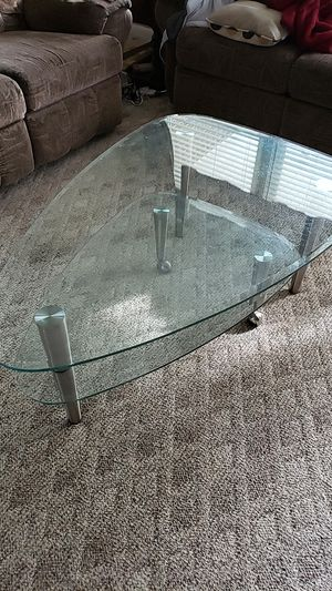Triangular glass coffee table for Sale in Hampton, VA
