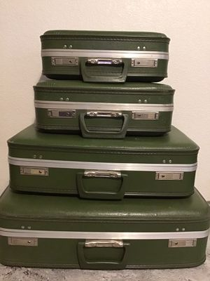 4pc Vintage luggage set for Sale in Fresno, CA