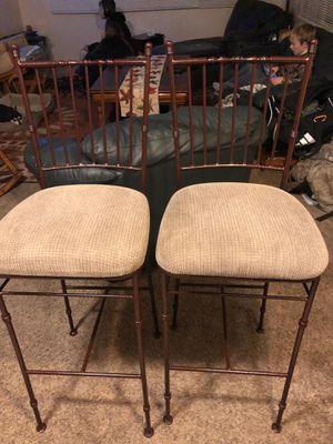 High stool chairs 2 for Sale in Highland Charter Township, MI