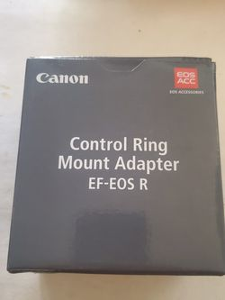 Canon EF-EOS R adapter With Control Ring for Sale in Los Angeles,  CA