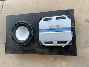 150$ 1 sub Infinty Perfect 10.1 350rms 1400peak with amp Infinity Reference 310a 657w Rms 2ohm for Sale in Phoenix, AZ