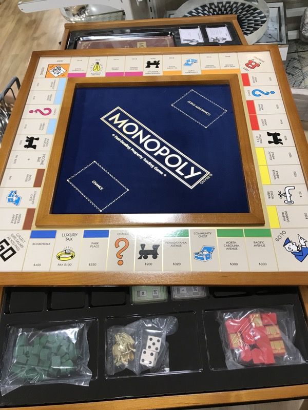 Luxury Edition Monopoly Board Game. Felt and Wood. Rare ...