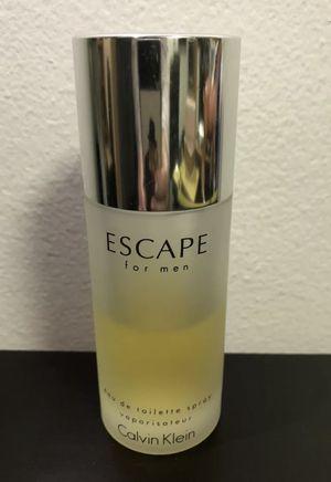 Calvin Klein Escape for Men EDT 3.4 oz Spray 50% Full for Sale in Brooklyn, NY