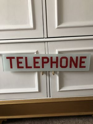 Telephone Glass Phone Booth Vintage Red Authentic Sign Accent Wall Decor Accessory Super Hero Comic Boys Themed Room for Sale in Henderson, NV