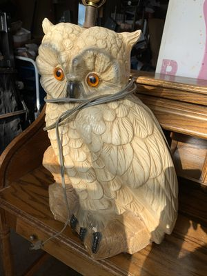 Vintage owl lamp for Sale in Mishawaka, IN