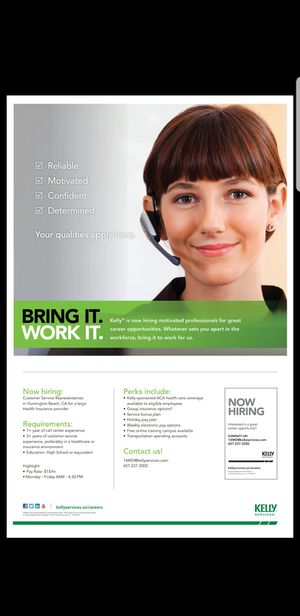 Kelly Services is Hiring!!! for Sale in Huntington Beach, CA