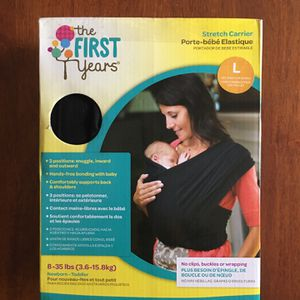 The Stretch Baby Carrier Newborn to Toddler (8-35 lbs) - L - The First Year Portabebe Elástico for Sale in Houston, TX