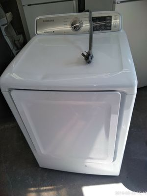 Samsung dryer electric extra large capacity 6mo warranty stainless steel tub free delivery {contact info removed} for Sale in Fort Washington, MD