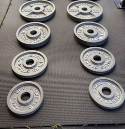 Olympic weight plates (2x35Lbs, 2x25Lbs, 2x10Lbs, 2x5Lbs, 2x2.5Lbs) for $320 Firm on Price for Sale in South Gate,  CA