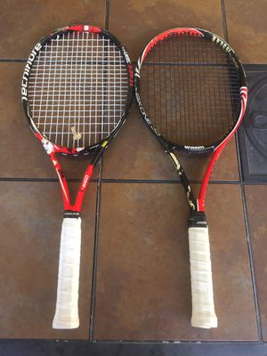 Wilson and Technifibre tennis rackets for Sale in Ramona, CA