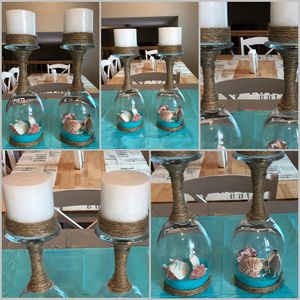 Seashell & Sand Wine Glass Candle Holders for Sale in South Jordan, UT
