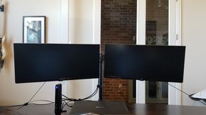 """2x29"""" LG monitors w/stand for Sale in Leander, TX"""