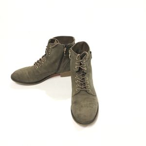 XAPPEAL Laya Low Heel Lace Up Ankle Boots Taupe 10 for Sale in McAllen, TX