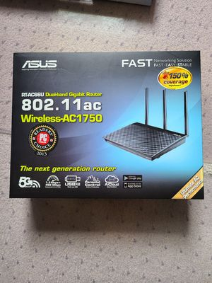Asus RT-AC66U dual band AC1750 wiress router for Sale in Kirkland, WA