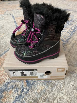 Kids new sorel snow boots size 8 for Sale in Milwaukie, OR