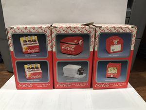 Enesco Coca-Cola Salt & Pepper Shakers (3 sets) for Sale in Gilbert, AZ