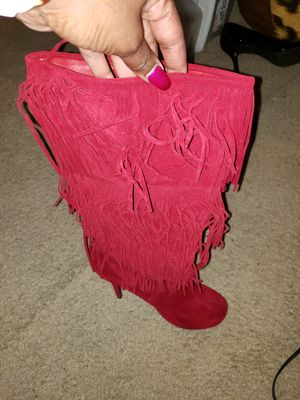 Sexy knee high suede boots with fringes. Brand new! for Sale in Hazel Crest, IL