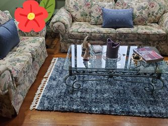 Living Room Set 2 Matching Metal And Glass Coffee And Side Tables for Sale in Miami,  FL