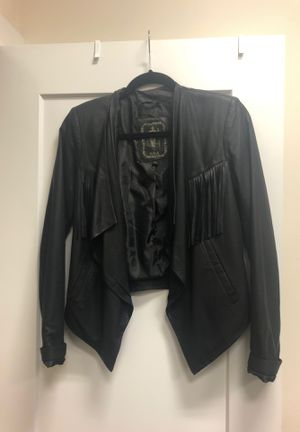 NY Tribe fringe leather jacket for Sale in Charlotte, NC