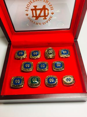 Notre Dame Fighting Irish National Championship Ring Set for Sale in Providence, RI