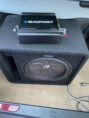 """12"""" kicker comp r subwoofer and 1500w amp combo for Sale in Charlottesville, VA"""