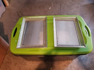 2 Metal mirrored glass table caddy or wall mirrors for Sale in Erlanger, KY