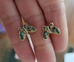 100% Diamond Butterfly Earrings for Sale in Keizer, OR