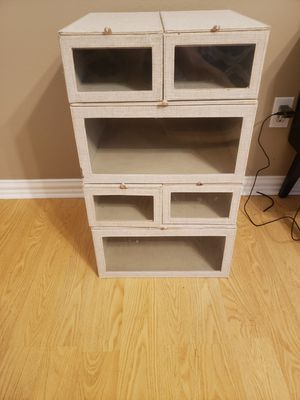 Container store closet organizers for Sale in Spring, TX